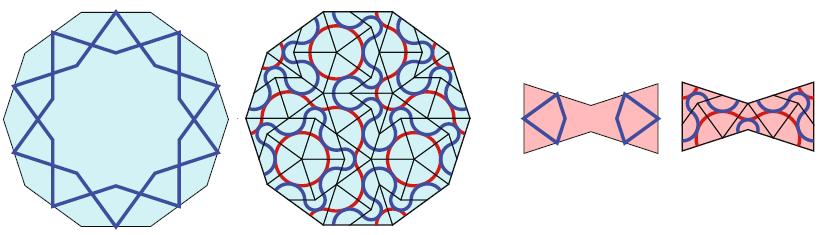 Penrose opvulling van tienhoek en strik