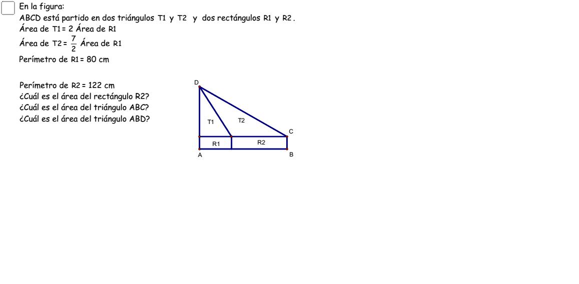 Varios ejemplos de visualizaciones geométrica y algebraica, paso por paso. Press Enter to start activity