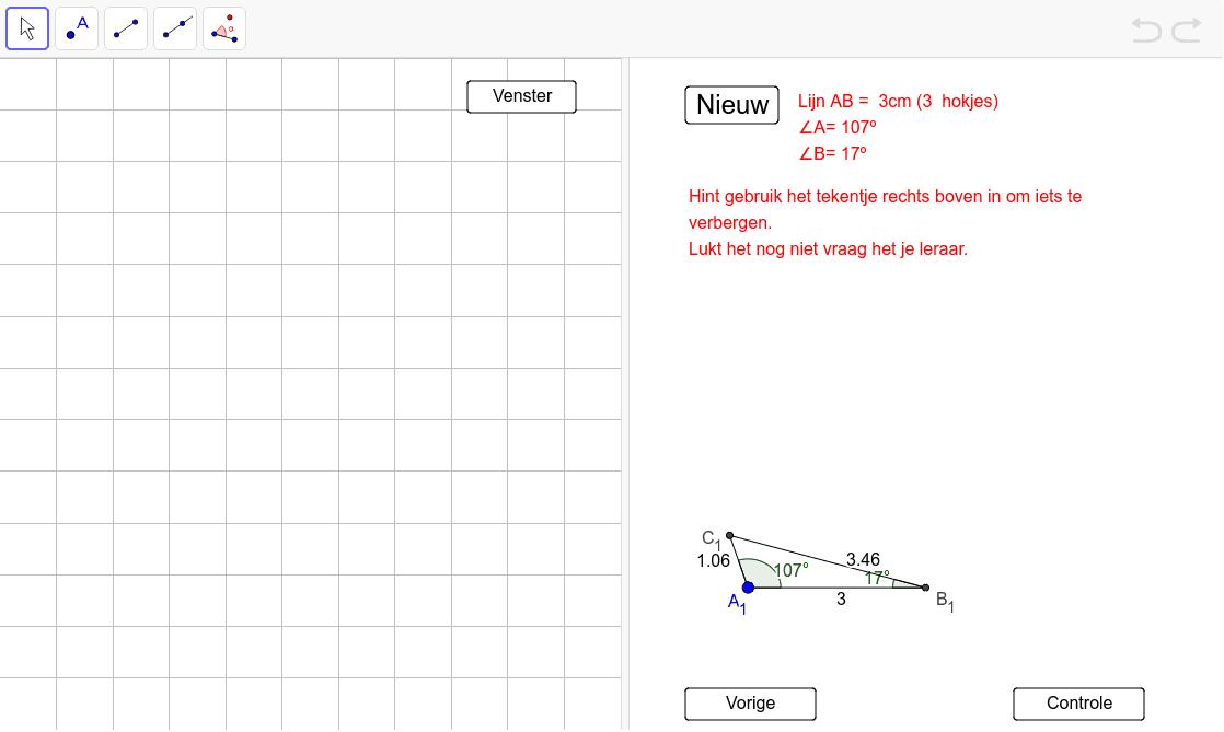 Driehoeken tekenen