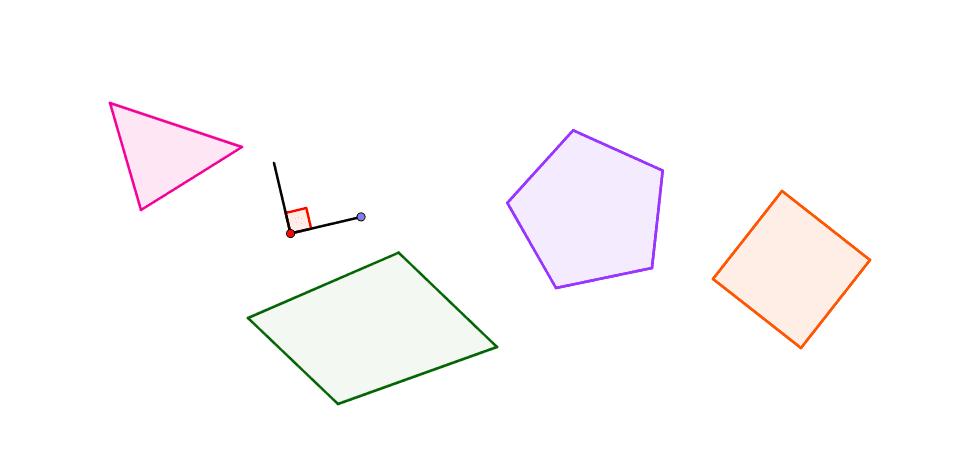 """Use o ponto vermelho para arrastar o """"ângulo reto"""" e o ponto azul para girá-lo."""