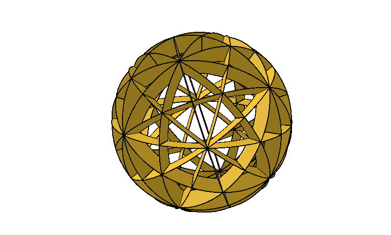 Spherical model - dodecahedron & icosahedron