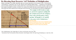 Re-Directing Descartes' 1637 Multiplication Part 1