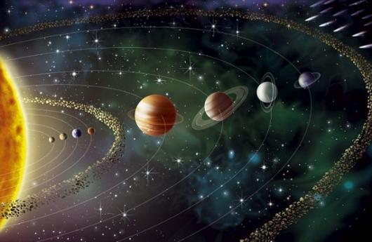 Rappresentazione grafica del sistema solare odierno