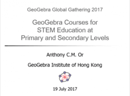 GeoGebra Courses for STEM Education at Primary and Secondary
