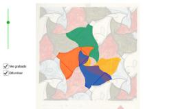 Teselaciones de M.C. Escher: División regular del plano nº 20