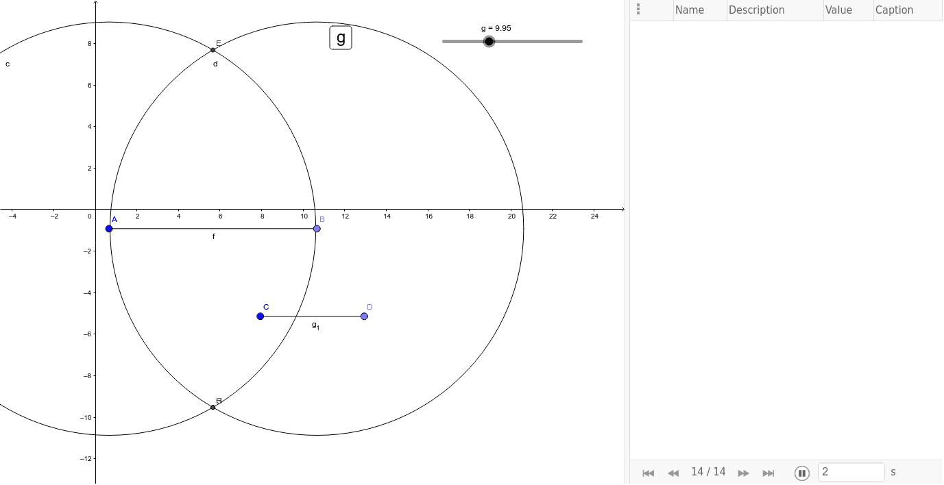 Costruzione riga e compasso del luogo asse di un segmento con il comando traccia
