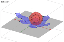 Dodecaedro planificado e animado