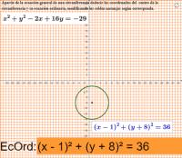 Ecuación ordinaria de la circunferencia