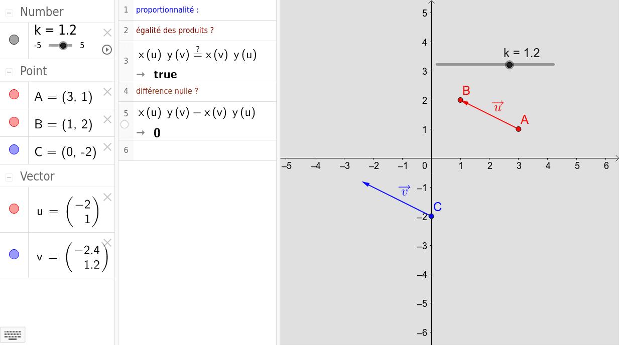Pour changer les valeurs, les saisir en partie calcul formel et non par glissement des points en partie graphique.