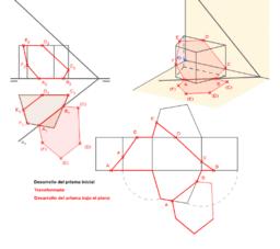 DT2.Diedrico. Secciones. Problema 05. (Segunda parte)