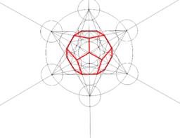 Dibujo del dodecaedro