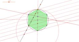 división circunferencia n partes iguales