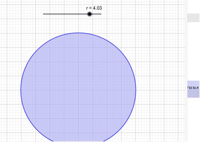 Suoran ympyräpohjaisen lieriön tilavuus