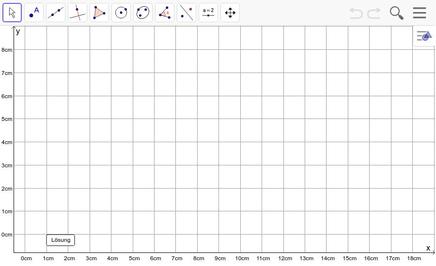 Dreieck 4: A(5/1), B(8/0), C(16/5): Zeichne das Dreieck und konstruiere den Umkreis. Füge den Screenshot der Koordinaten von U im Auftrag in Teams ein! Drücke die Eingabetaste um die Aktivität zu starten
