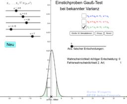 Kurs: Einstichproben Gauß-Test bei bekannter Varianz