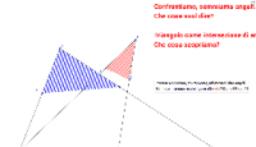 Il triangolo come intersezione di angoli