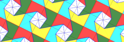 Pythagorean Theorem by Tessellation # 24 Tiling