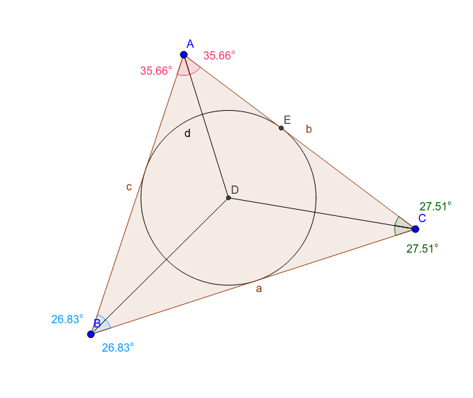D is the triangle's incenter Press Enter to start activity