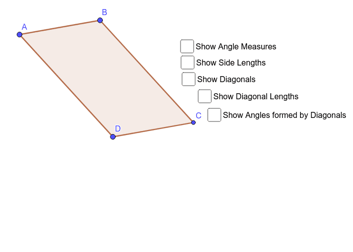 Parallelogram ABCD Press Enter to start activity