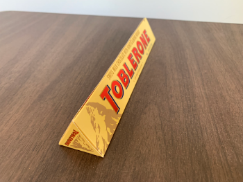 Note the dimensions of the Toblerone shown below.