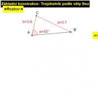 13. Troúhelník podle věty Ssu