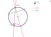 Bisectriz, mediatriz en circunferencia