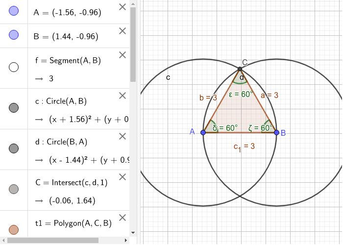 Triangolo equilatero Premi Invio per avviare l'attività
