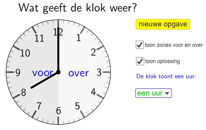 uren halve uren of kwartieren?