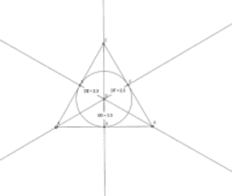 angle bisector - incenter