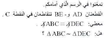 22.وضح حلك واكتب على ماذا اعتمدت.  23.أي ازواج من المثلثات التالية متشابهة؟