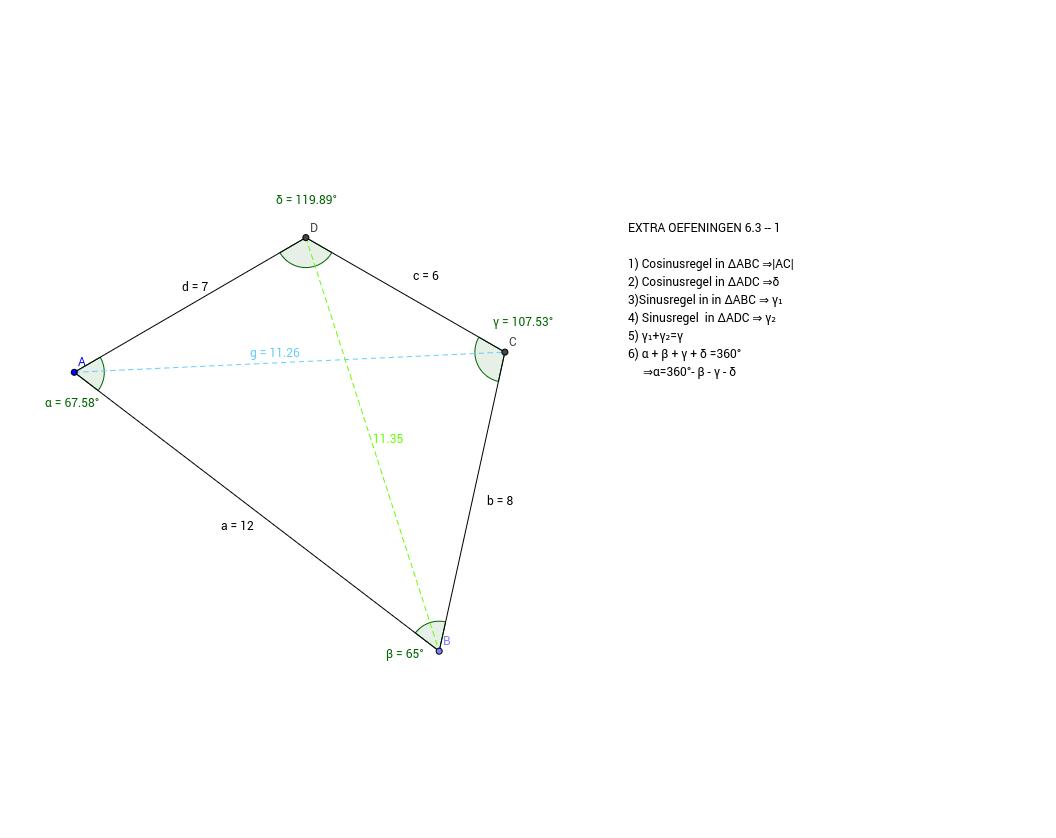 EXTRA OEF 6.3 - GONIOMETRIE verbetersleutel