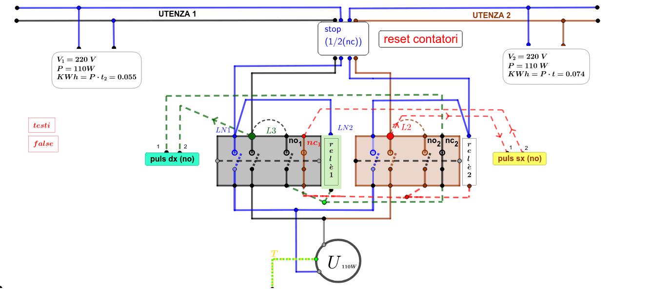 rivisti i collegamenti L3-no1 e L2-no2-aggiunti contatori