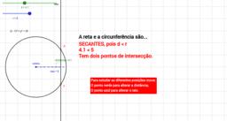 Posições relativas - Reta e Circunferência