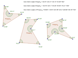 Interior Angle Sum - Concave Polygons