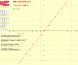 Interactive Graphing Straight Line Ex 1A