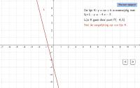 Lineaire functie. Formule evenwijdige lijn opstellen.