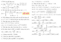 đề 3 kiểm tra học kỳ 2 toán 11
