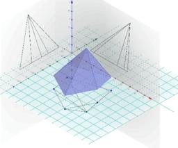 Projeccions piràmide sobre plans ortogonals - DIÈDRIC