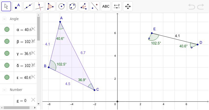 Proving Triangles Congruent Part 1 Geogebra