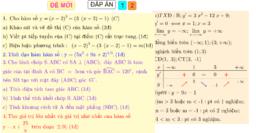 ĐỀ THAM KHẢO(Kiểm tra giữa học kỳ 1 toán 12)