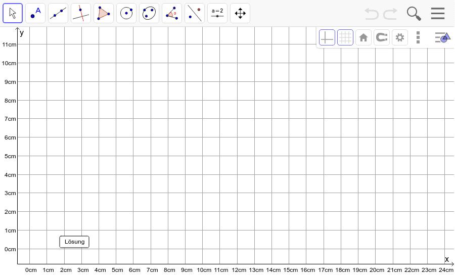 Dreieck 5: A(0/9), B(10/1), C(9/9): Zeichne das Dreieck und konstruiere den Schwerpunkt S. Füge den Screenshot der Koordinaten von S im Auftrag in Teams ein! Drücke die Eingabetaste um die Aktivität zu starten