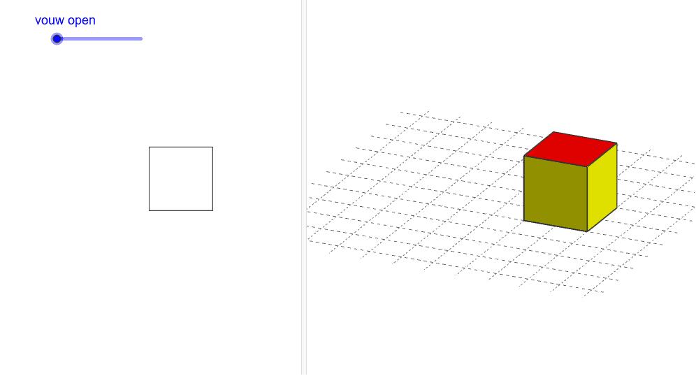 versleep de schuifknop en vouw de kubus open Klik op Enter om de activiteit te starten