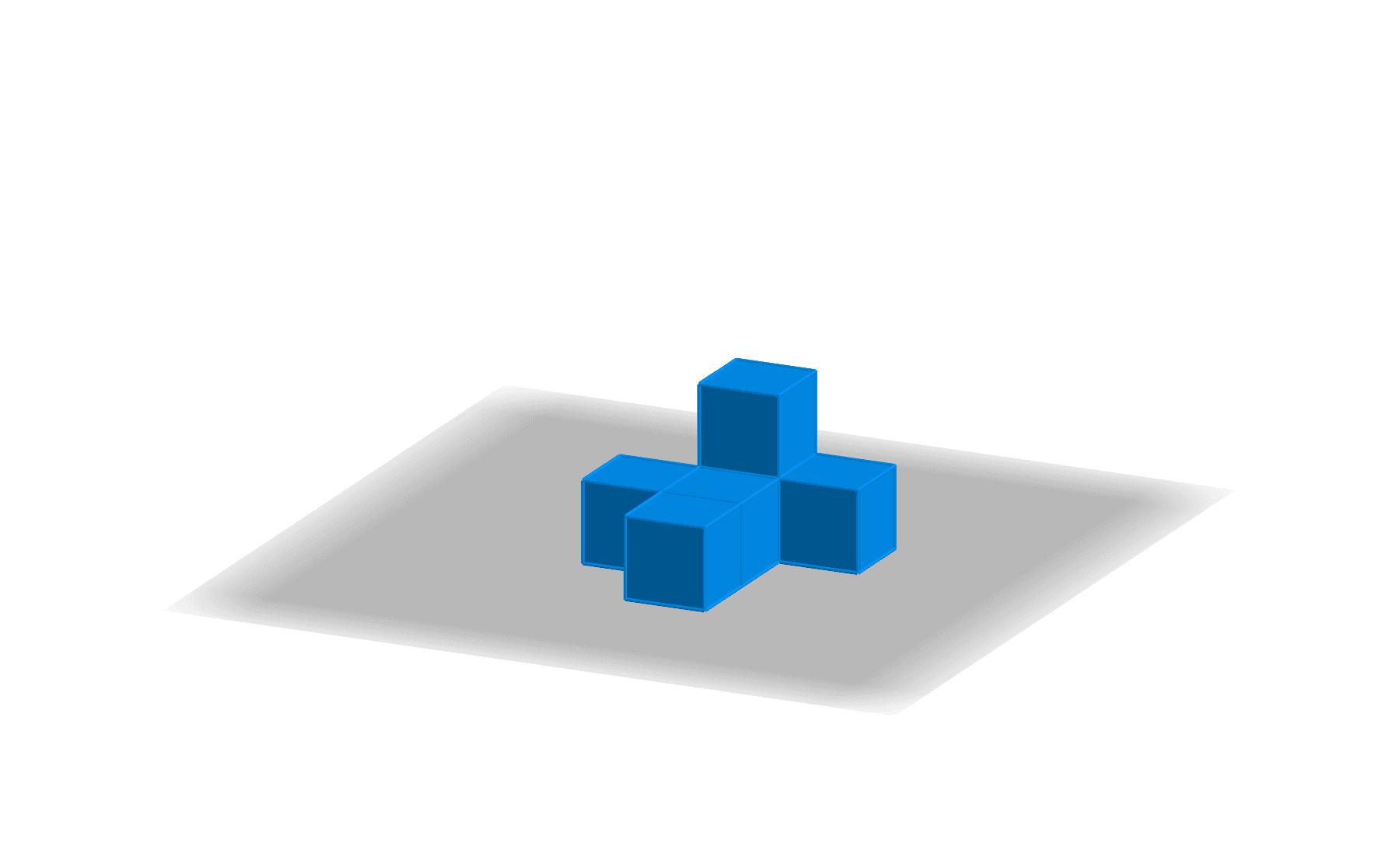 """Utiliser le bouton droit de la souris pour faire pivoter le solide et observer les différentes vues de ce solide. Tapez """"Entrée"""" pour démarrer l'activité"""