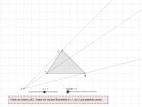 Zentrische Streckung mit Hilfslinie (0 < k < 1.8)