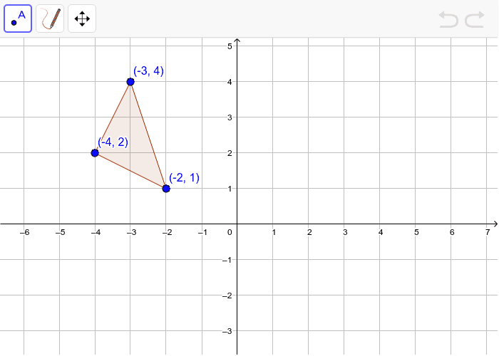 Translate the triangle 4 units down and 2 units to the right. Press Enter to start activity