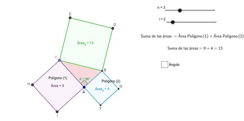 Teorema de Pitágoras; Exploremos....