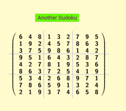 Permutation of columns and of rows : Sudoku