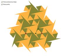 Mozaika na bazie trójkąta równobocznego