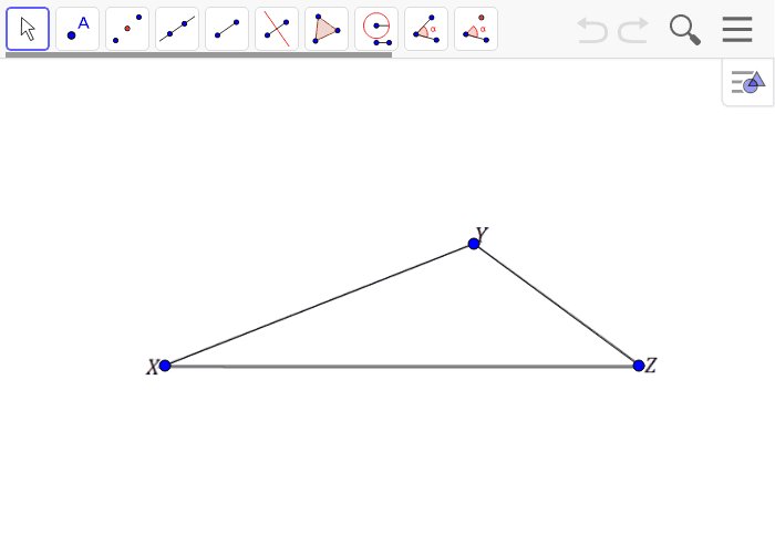 Create a scale drawing of triangle XYZ with a scale factor of r = 1/2