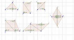 triangoli rettangoli in poligoni